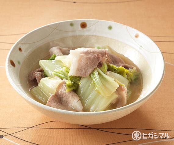 煮物 白菜 と 豚肉 の 豚バラ肉と白菜のうま煮のレシピ/作り方